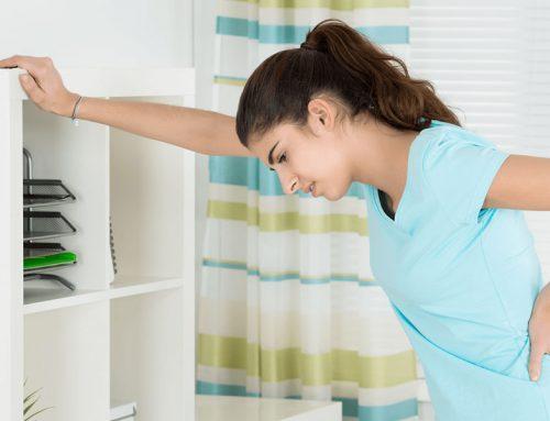 A nurse with back pain
