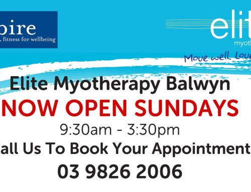 Myotherapy Appointments on Sunday!
